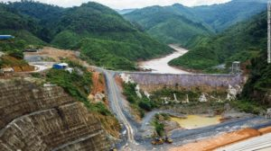 The Nam Tha 1 hydroelectric dam construction site, being built by Power Construction Corp. of China Ltd. (PowerChina) and to be operated by Chine Southern Power Grid Co., stands in Bokeo Province, Laos, on Saturday, July 29, 2017. Southeast Asia's frontier nations??are stepping up their??infrastructure??drive to boost growth and diversify their economies as they seek to shed their image as the region's backwater. Photographer: Taylor Weidman/Bloomberg